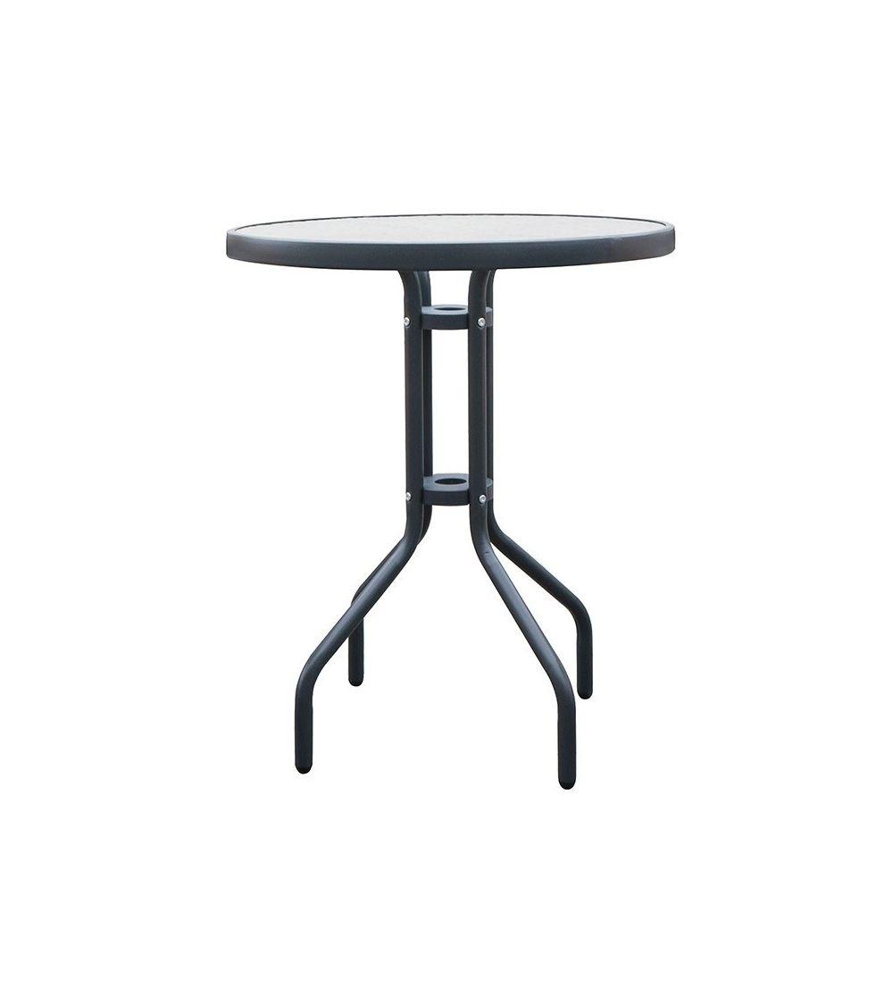 Szklany stolik ogrodowy - nowoczesny design stolika wpasuje się w każde otoczenie.