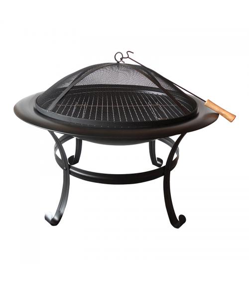 Grill węglowy - niewielkie palenisko ogrodowe z ażurową pokrywą