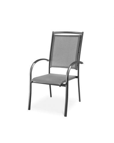 Aluminiowe krzesło ogrodowe doskonale sprawdzi się w zestawie mebli ogrodowych.