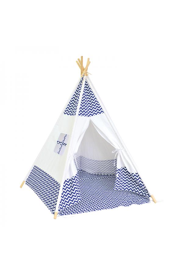 Namiot TIPI dla dzieci z podłogą i oknem