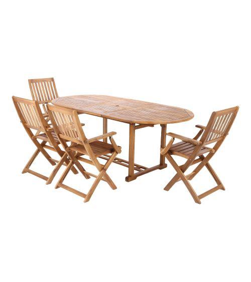 Komplet 4 krzesła + stół z...
