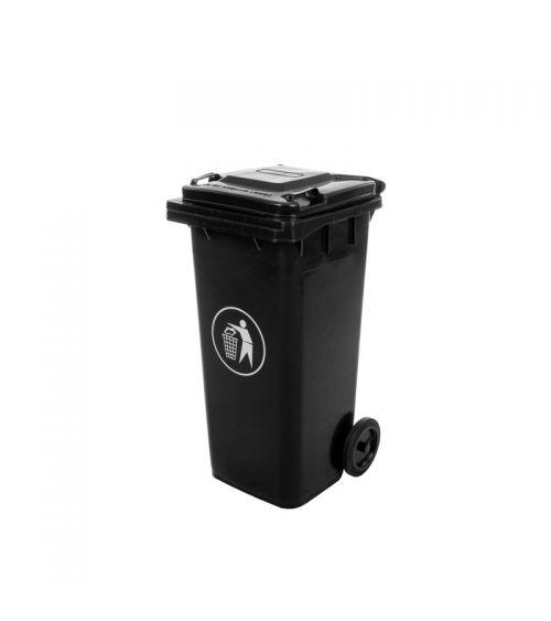 Kosz na śmieci segregowane w kolorze czarnym o pojemności 120L