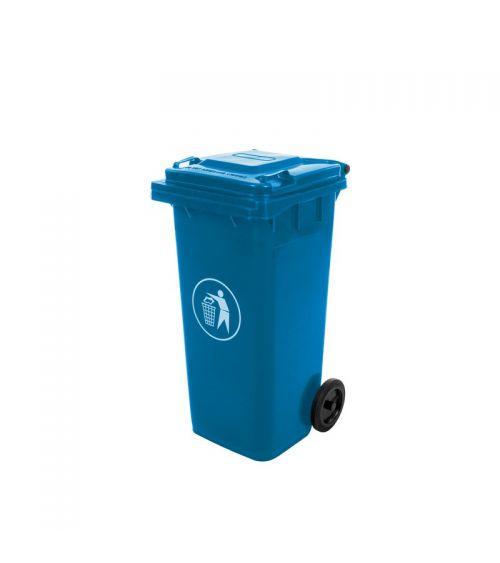 kosz na śmieci kubeł 120L niebieski