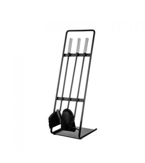 Zestaw akcesoria do kominka na stylowym stojaku
