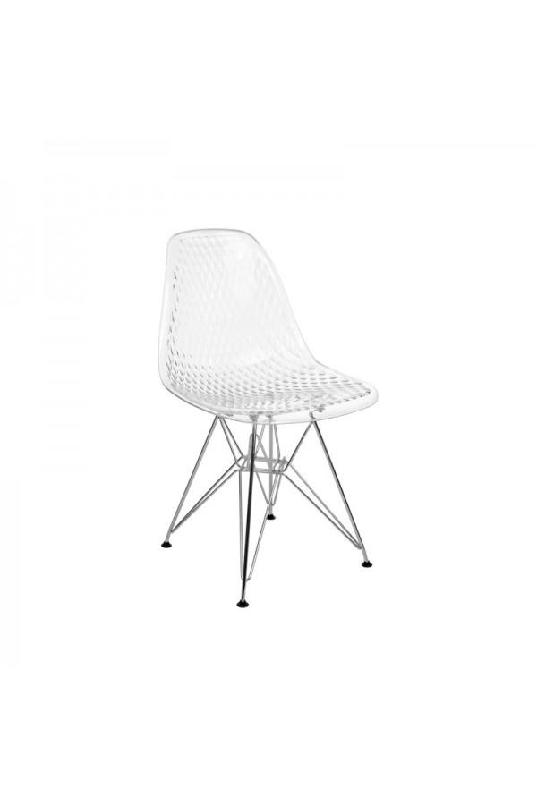 Nowoczesne krzesło skandynawskie z wygodnym oparciem