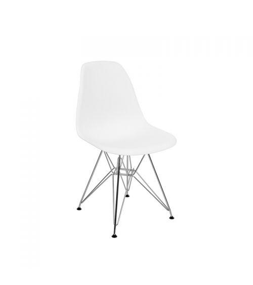 krzesło do salonu skandynawskie białe wygodne lekkie