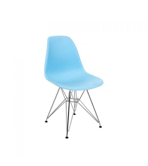 nowoczesne krzesło w stylu skandynawskim do salonu niebieskie