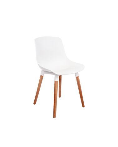 Nowoczesne krzesło do salonu w kolorze białym