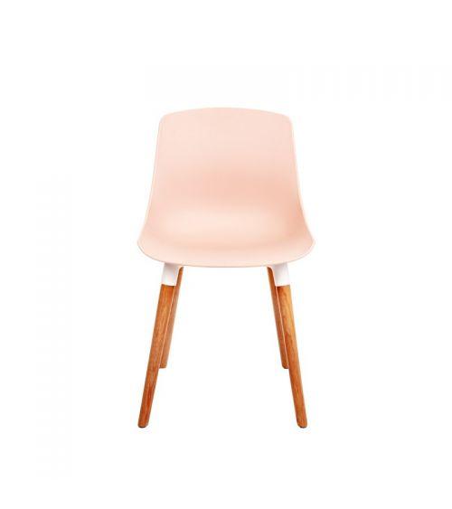 Nowoczesne krzesło do salonu w kolorze różowym