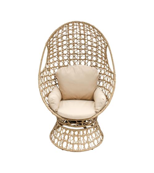 fotel tehnorattan jasny