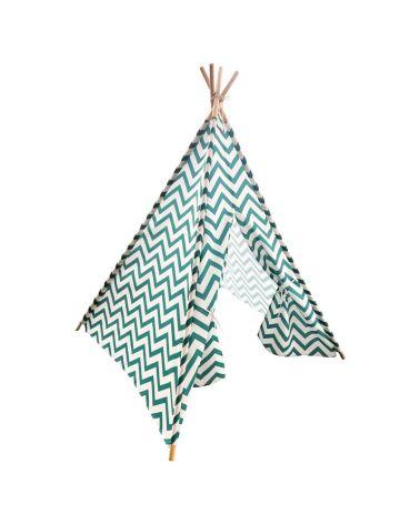 Namiot Tipi dla dzieci w kolorze zielonym