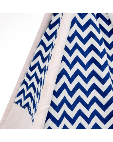 Biało niebieski TIPI namiot dla dziecka do zabawy
