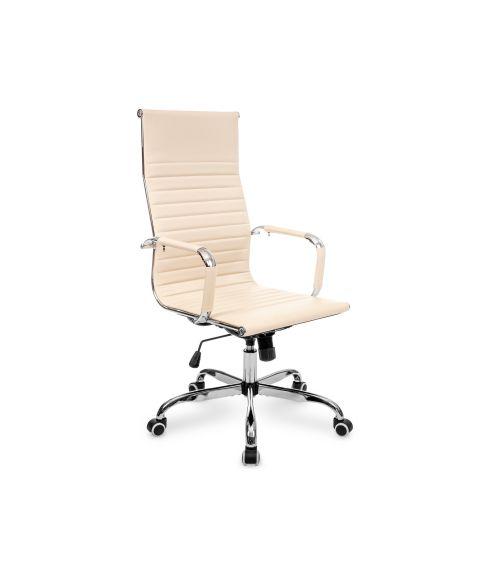 Ergonomiczny fotel biurowy elegancki w kolorze beżowym