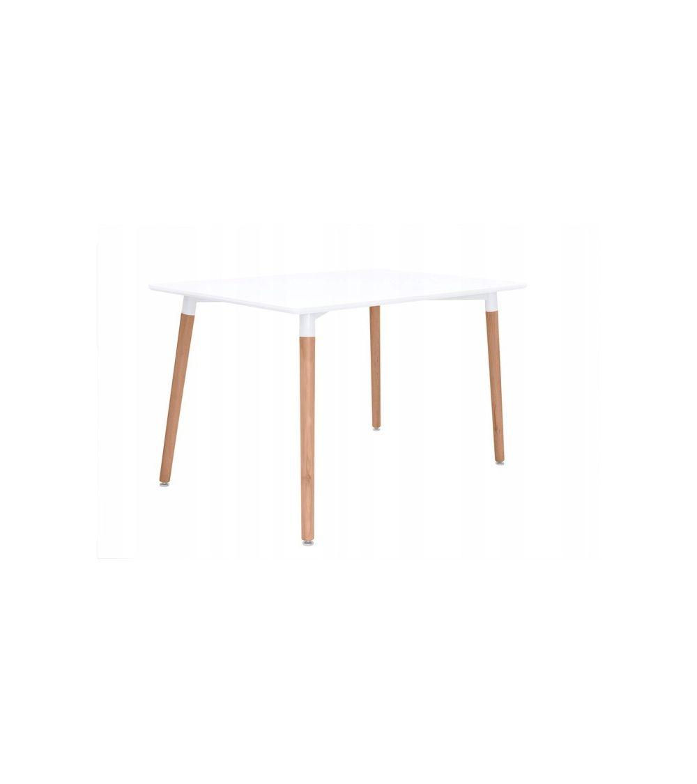 nowoczesny stół do krzeseł z drewnianymi nogami