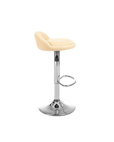 Wysokie krzesło do kuchni w kolorze beżowym z oparciem
