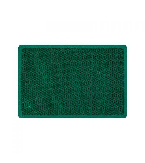 Zielona mata wejściowa z kolcami skutecznie zbierającymi zabrudzenia.