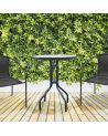 Dwuosobowy zestaw kawowy w kolorze czarnym na balkon lub do ogrodu.