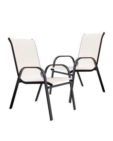 Zestaw krzeseł ogrodowych w kolorze beżowym