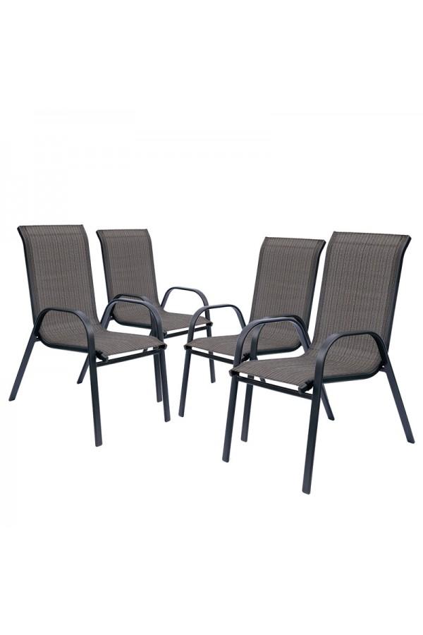 Zestaw 4 krzeseł ogrodowych.