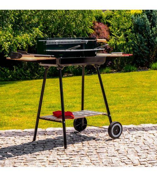 Grill węglowy z kołami transportowymi