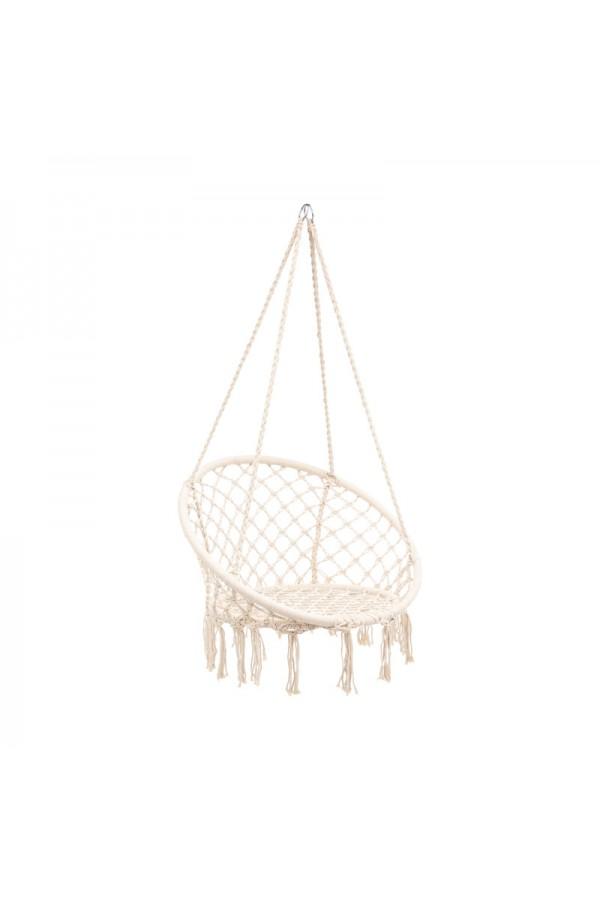 Wiszące krzesło brazylijskie bocianie gniazdo - styl boho w Twoim ogrodzie. Wesele boho.