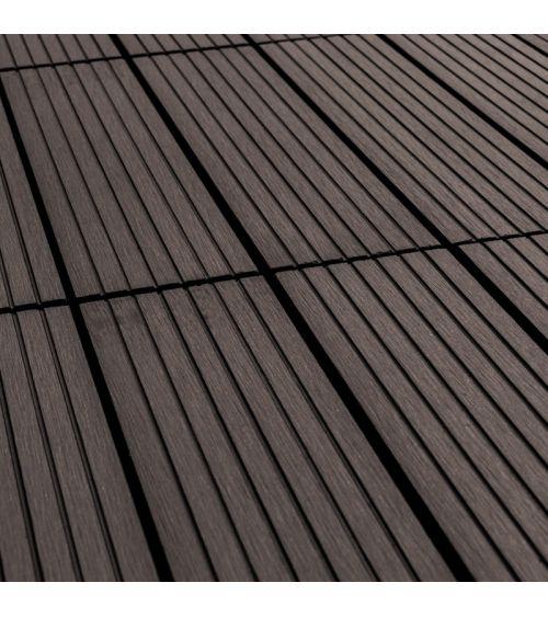 Płytka tarasowa w kolorze brązowo szarym to doskonały wybór do stworzenia podłogi na balkon, taras lub wkoło basenu.