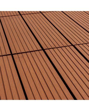Płytka tarasowa w kolorze brązowym to doskonały wybór do stworzenia podłogi na balkon, taras lub wkoło basenu.