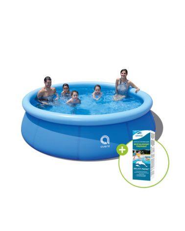 Zestaw basenu z chemią basenową bez chloru oraz pompą