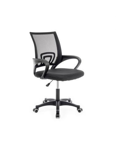 Ergonomiczny fotel obrotowy w kolorze czarnym.