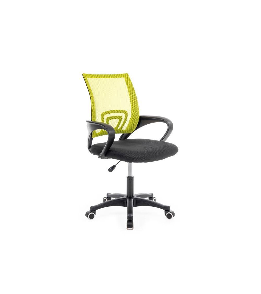 Biurowy fotel obrotowy w odcieniach zieleni doskonale sprawdzi się jako fotel dla dziecka.