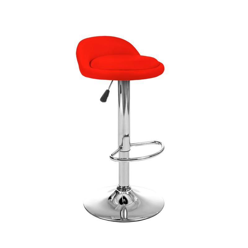 Krzes³o hoker kuchenny w kolorze czerwonym
