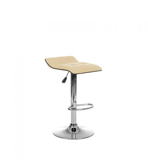 Beżowy stołek barowy - krzesła hokery z funkcją obrotu.
