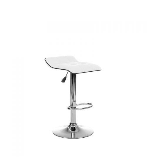 Biały stołek barowy - krzesła hokery z funkcją obrotu.