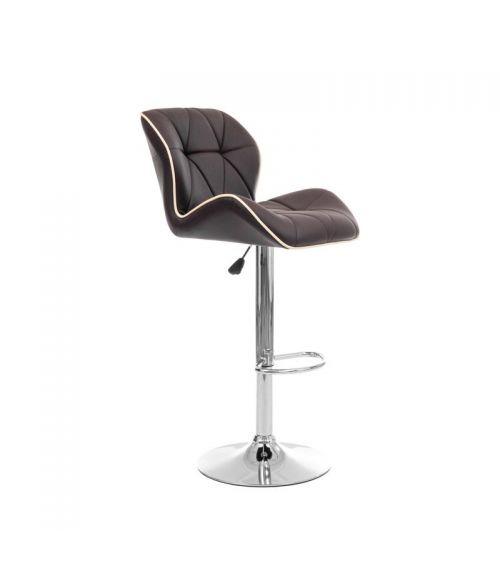 Krzesło barowe w kolorze brązowym