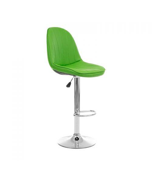 Zielone krzesło barowe z wysokim oparciem