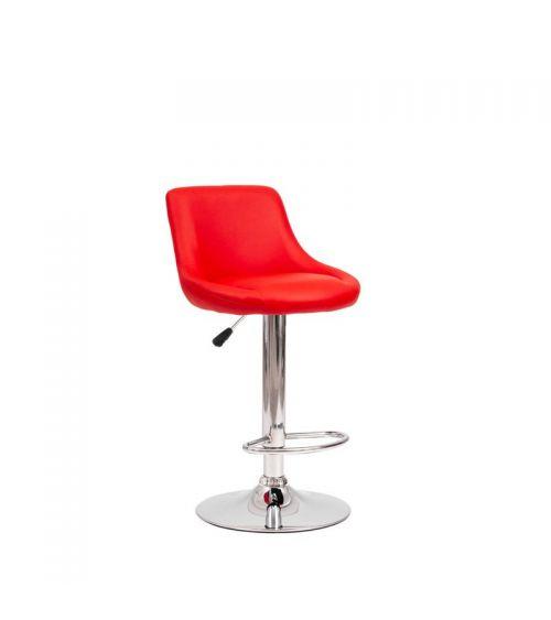 Krzesło barowe w kolorze czerwonym