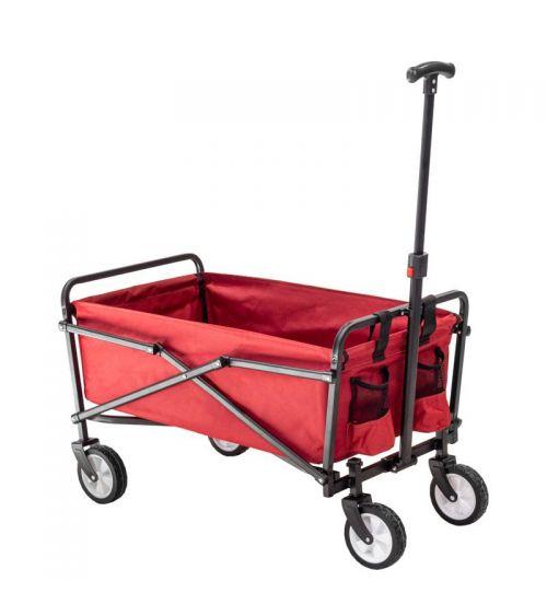 Czerwony wózek ogrodowy