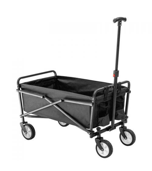 Czarny wózek transportowy