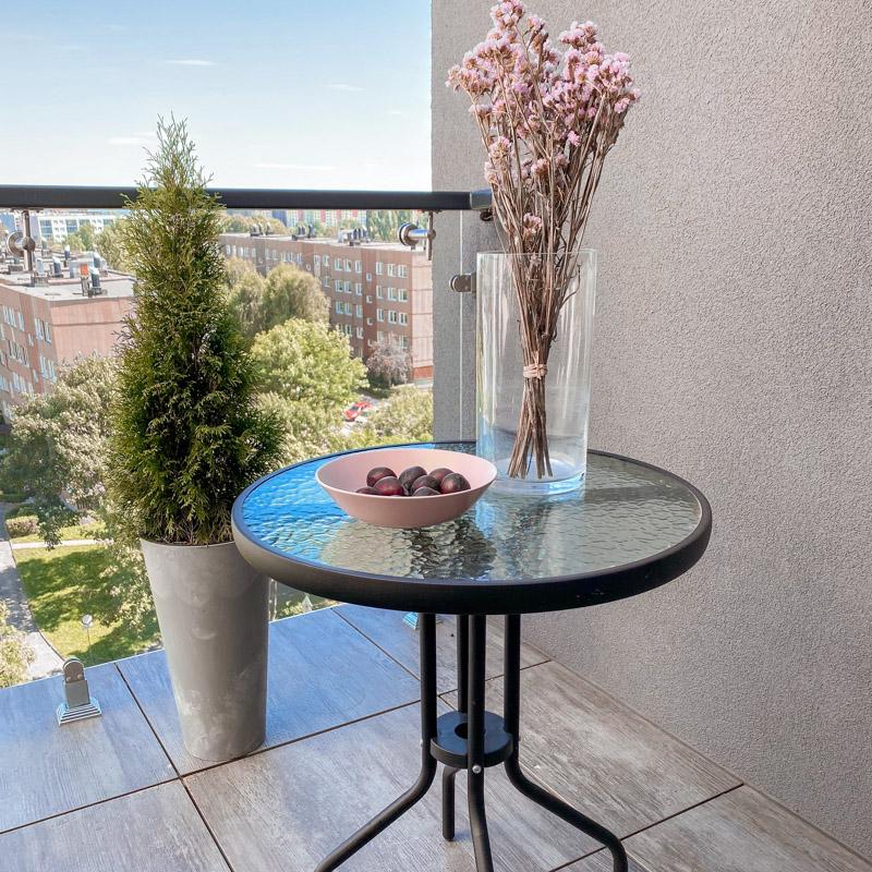 Stolik szklany - stoliki na balkon