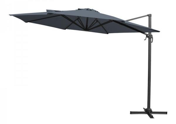 aranżacja tarasu z Duży parasol ogrodowy - 3,5m grafit Indeks: PARASOL KAZUAR 3,5 M GRAFITOWY