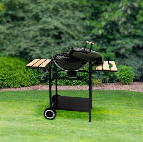 Duży grill węglowy z drewnianymi półkami bocznymi Indeks: GRIL MIR 270