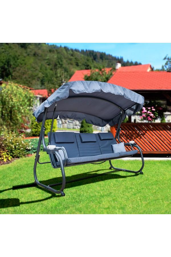  3-osobowa huśtawka ogrodowa z moskitierą Indeks: CAMILA